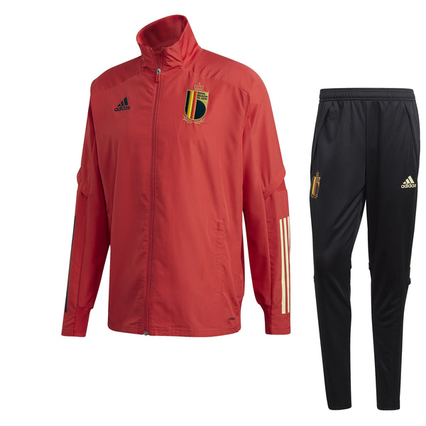 ADI BELGIE 20 PRE SUIT GLORY RED/BLACK