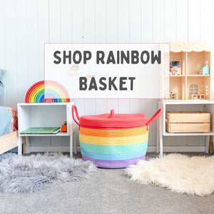 Rainbow large storage basket