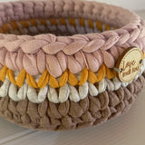 Earthy Rainbow baskets - Autumn Tones Nursery Storage - Home Decor - Crochet Basket - Rainbow Nursery