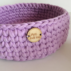 Crochet Storage Basket - Lilac