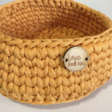 Mustard Basket - Nursery Decor - Crochet Basket - Nursery Storage