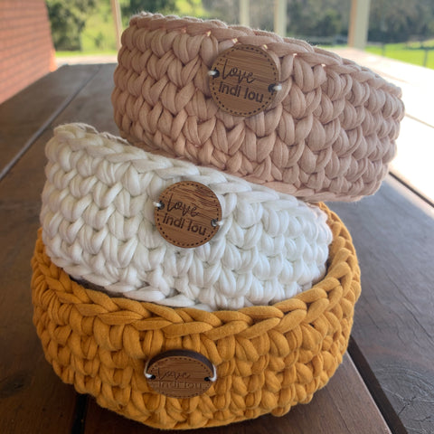Crochet Storage Basket - Natural