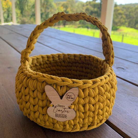 Easter Basket - Mustard