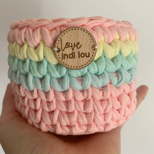 Crochet Storage Basket - Pastel