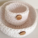 White Basket - Nursery Decor - Crochet Basket - Nursery Storage