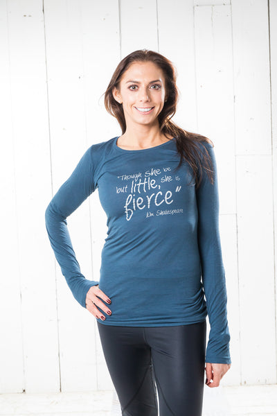 Long Sleeve Bamboo T-shirt - Fierce, Denim Blue