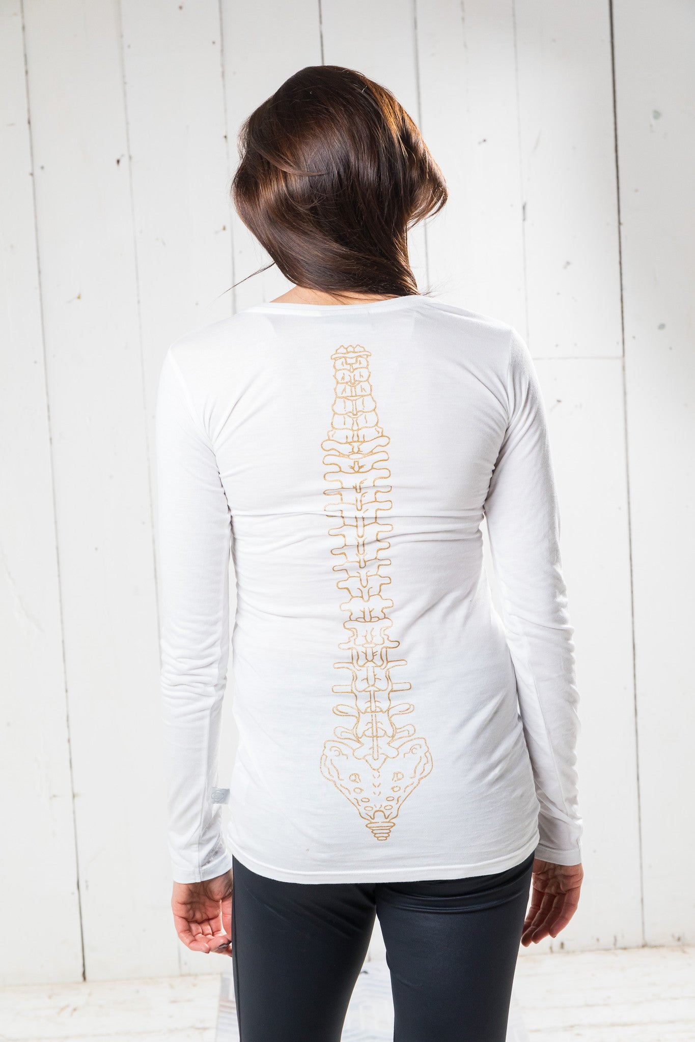 Long Sleeve Bamboo T-shirt - Fierce, White