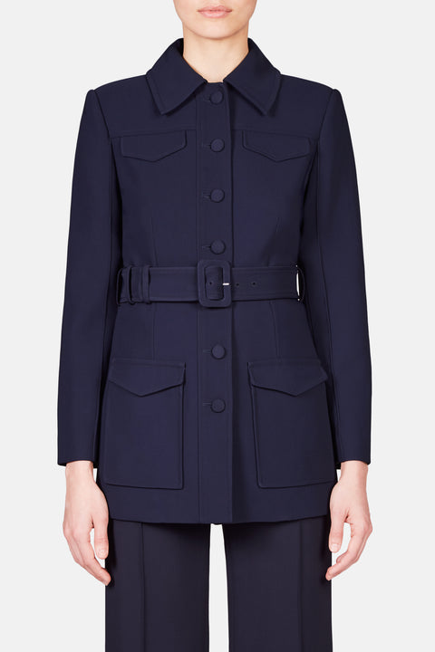 TAILORED MILITARY JACKET - NAVY