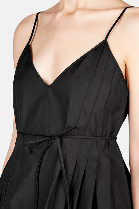 PLEATED CAMISOLE - BLACK