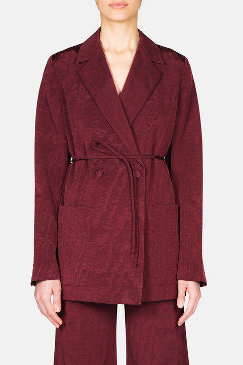 SLIM SMOKING JACKET - MAROON