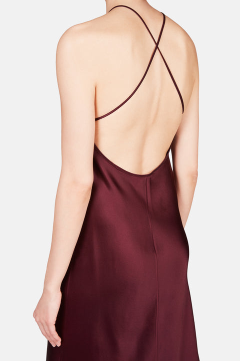 CROSS BACK SLIP - MAROON
