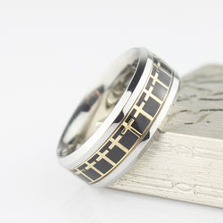 Premium Stainless Steel Holy Cross Ring