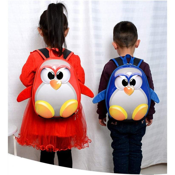 3D penguin backpack for kids-PinkPinker