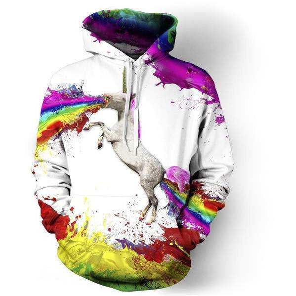 3D printed Fashion Hoodies for women and men 0B02-PinkPinker