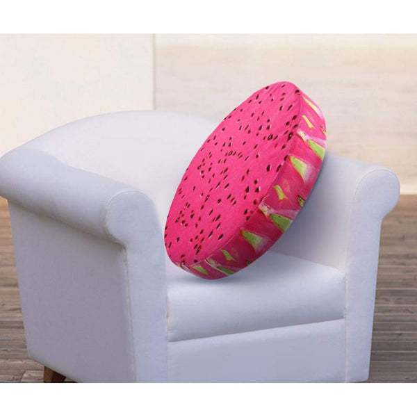 40 cm 3D printed Fruit Cushion - sofa and office chair back pillow in 12 Designs-PinkPinker