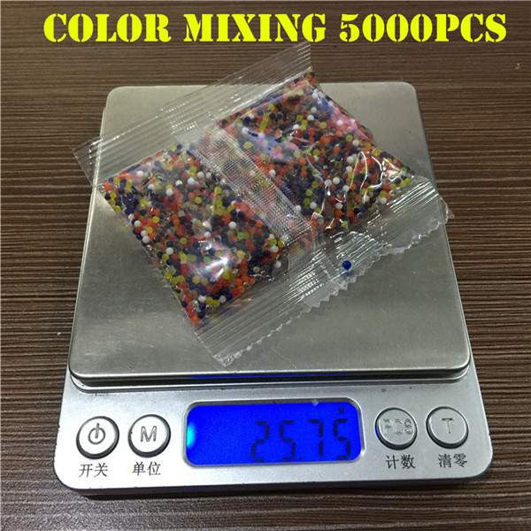 5000Pcs Pearl Shaped Soil Water Beads for Water Guns-PinkPinker