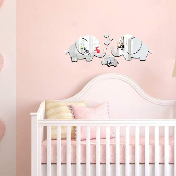 Acrylic Mirrored Stickers for Wall Decoration Model AMS0012-PinkPinker