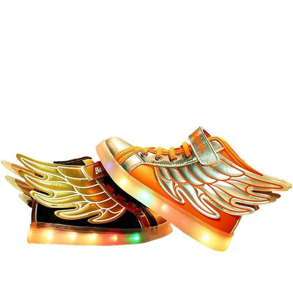 Angel Wings with LED Kids Shoe - code AFN004403-PinkPinker