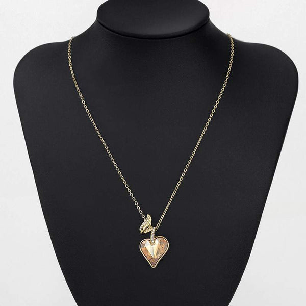 Austrian Crystal Rhinestones - Heart shape Necklaces & Pendants For Women-PinkPinker