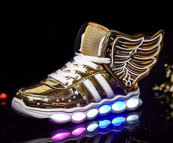 Fantastic Wings Sneakers for Kids - LED Glowing shoes for Girls and Boys-PinkPinker