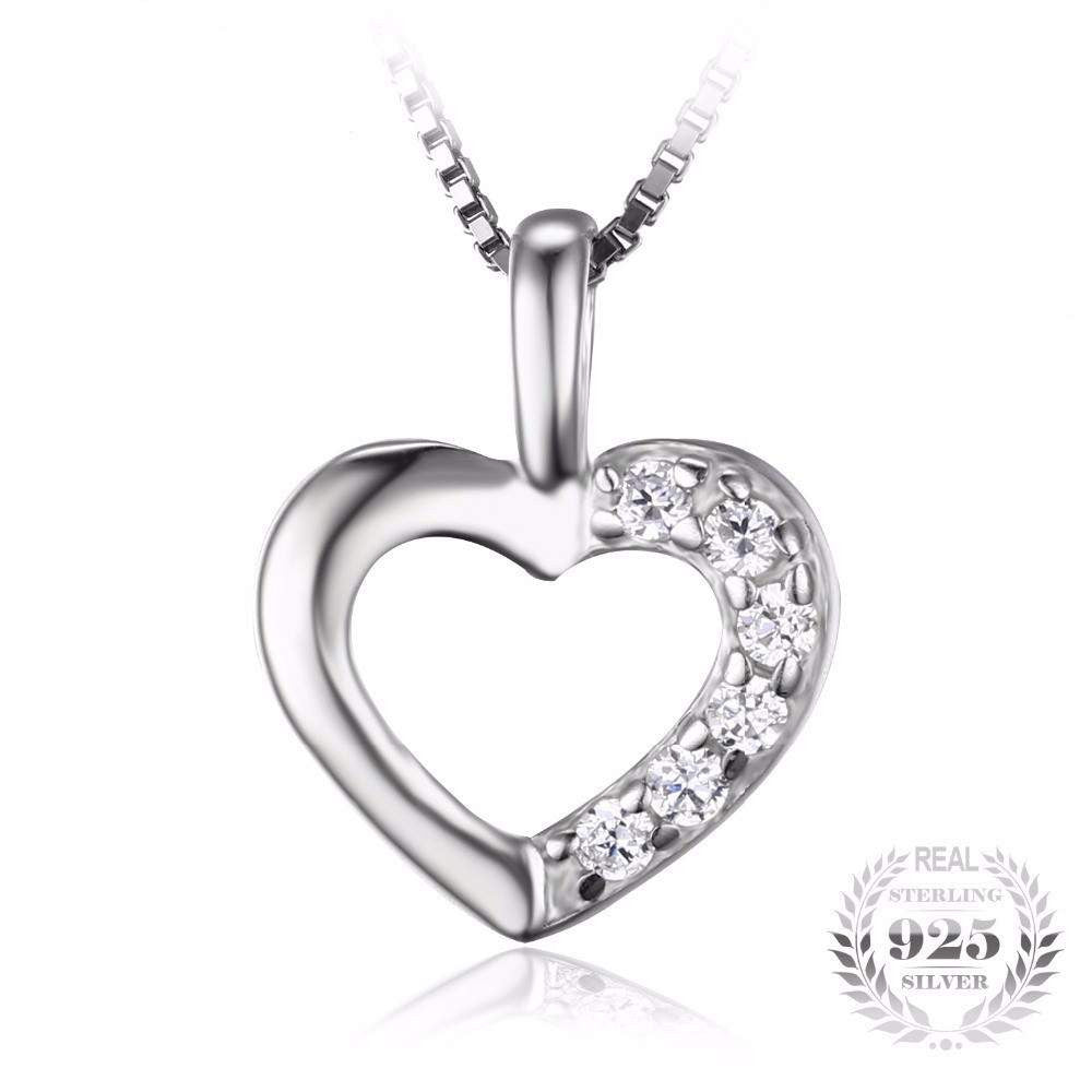 Fashion Heart shape Love Pendant Neckalaces-PinkPinker