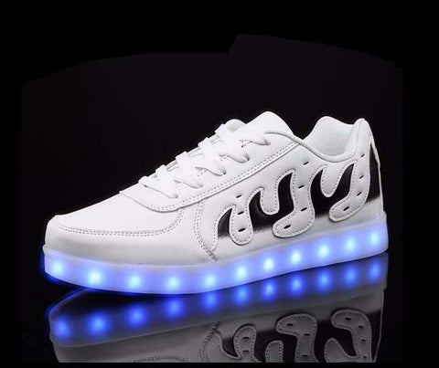 Fashion new LED Lights Up shoes for men and women - USB Charging-PinkPinker