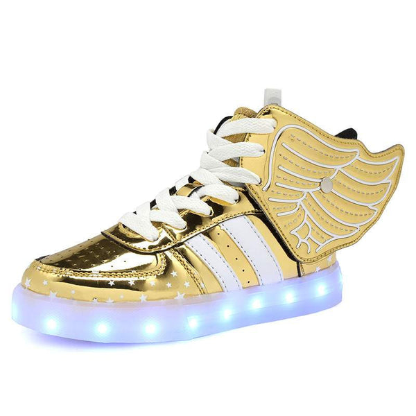 Fashion Wings Shoes for Children - LED Glowing Sneakers for Boys and Girls-PinkPinker