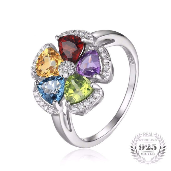 Natural Stones Jewelry - Colorful - 925 Sterling Silver Ring for Women-PinkPinker