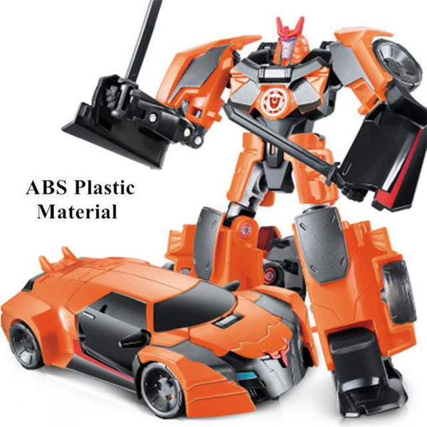 NEW Action Figure Toy- Transformation Robot Car-PinkPinker
