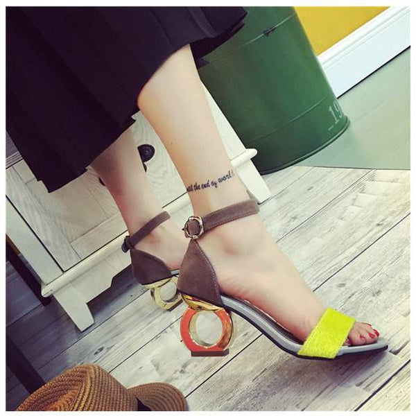 Unique Fashion High-Heeled Women Sandals - Summer Shoe in 2 Colors-PinkPinker