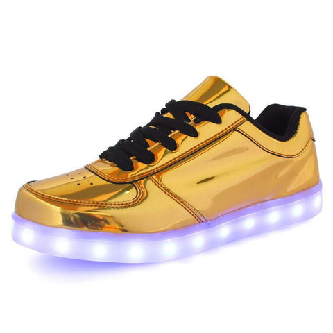 Usb glowing led shoes for women and men - LED lights up - casual shoes-PinkPinker