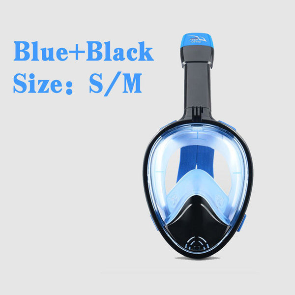 Diving Snorkeling Mask, Anti Fog, Full Face, swimming accessories, summer sports-PinkPinker