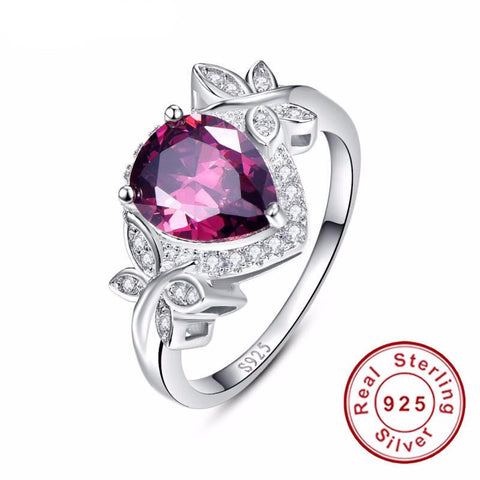 Garnet Sterling Silver Jewelry for women January Birthstone-PinkPinker