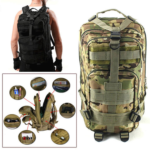 Tactical Backpack for Camping, Travel, and Hiking-PinkPinker
