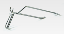 Single Hook with Overarm for Perforated Panel