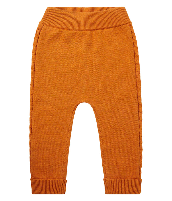 Baby Strickleggings Pablo in Orange aus 100% Bio Baumwolle von sense organics