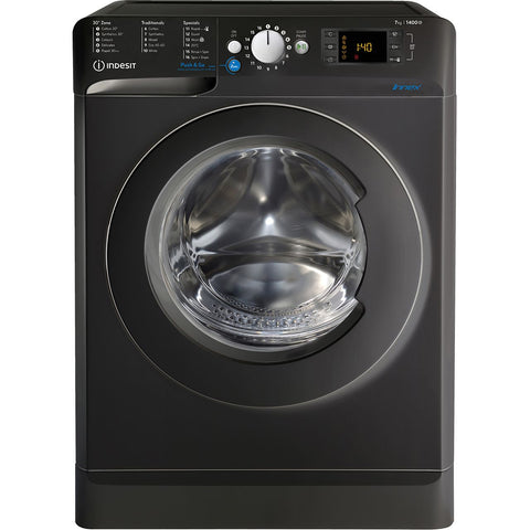 Indesit 7kg Black Washing Machine