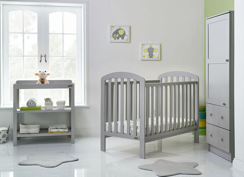 Lily Cot 3 Piece Furniture Set - Warm Grey