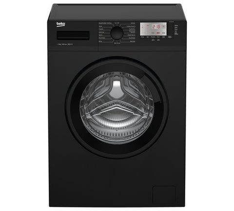 BEKO BLACK 7KG 1400 SPIN WASHING MACHINE