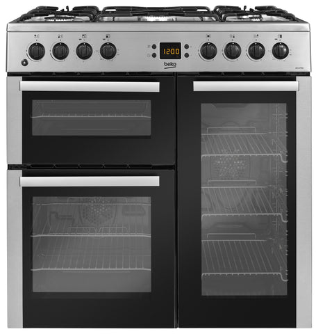 BEKO STAINLESS STEEL 90CM DUEL FUEL RANGE COOKER - MK Choices CIC