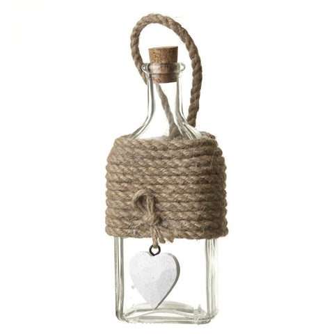 Glass Bottle With White Heart - MK Choices CIC
