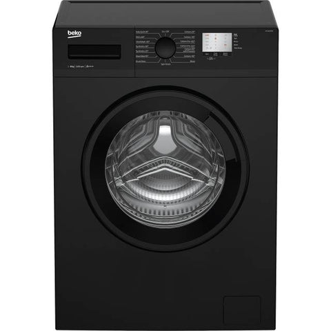 BEKO BLACK 8KG 1200 SPIN WASHING MACHINE