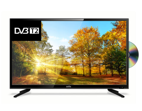 "CELLO 32"" LED TELEVISION WITH BUILT IN DVD"