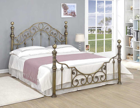 Canterbury Antique Brass Bed - MK Choices CIC