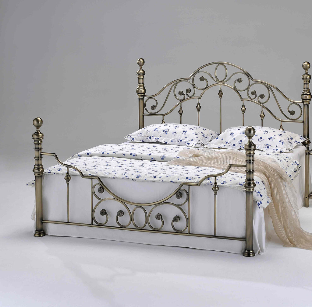 Canterbury antique brass bed mk choices cic - Beautiful snooze bedroom suites packing comfort in style ...