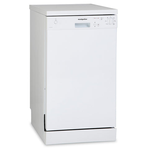 MONTPELLIER WHITE SLIMLINE DISHWASHER - MK Choices CIC