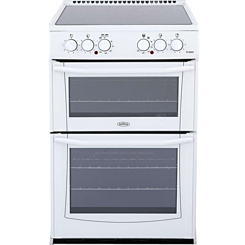 BELLING ENFIELD WHITE 55CM ELECTRIC COOKER WITH DOUBLE OVEN AND CERAMIC HOB - MK Choices CIC