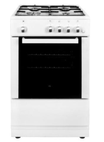 electriQ 50cm Single Oven Gas Cooker - White