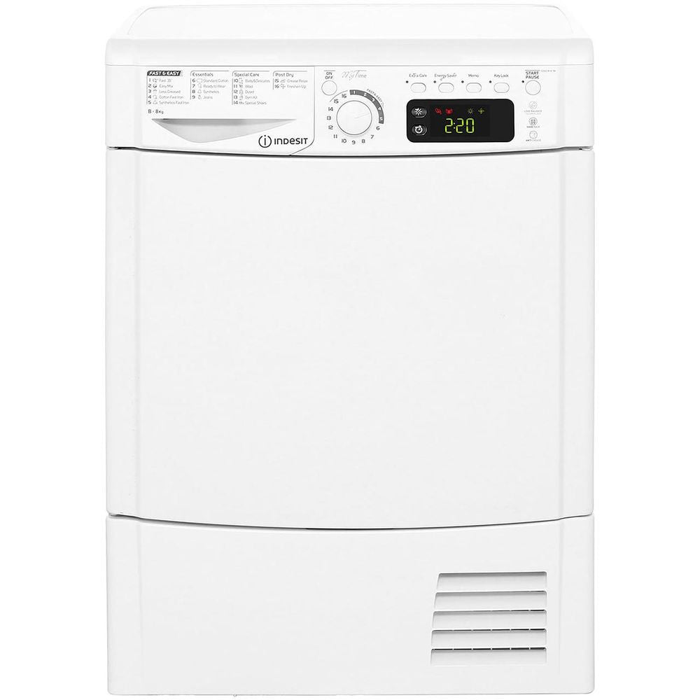 INDESIT WHITE 8KG CONDENSER SENSOR TUMBLE DRYER
