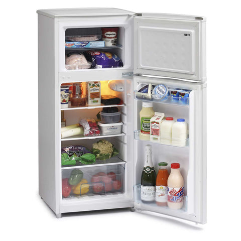 ICEKING WHITE 48CM WIDE TOP MOUNT FRIDGE FREEZER - MK Choices CIC